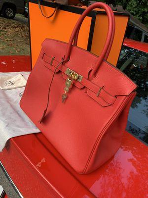 Authentic Hermes Berkin Geranium Red w/ gold hardware for Sale in Alpharetta, GA