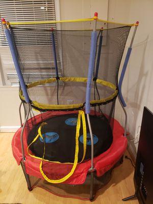 Kids trampoline with net. Nice for indoor or outdoor for Sale in Alexandria, VA
