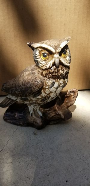 Owl figurine decoration display ceramic vintage for Sale in Riverside, CA