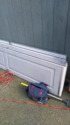 Lluft-master garage and garage opener with remote insulated garage doors double car length great shape must go have new one for Sale in Bonney Lake, WA