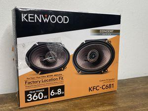 "Kenwood - 6"" x 8"" 2-Way Car Speaker - Black Model:KFC-C681 for Sale in Orlando, FL"