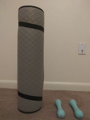 Yoga mattress and weights for Sale in Niceville, FL