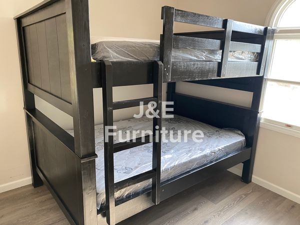 Full Over Full Bunk Bed (Mattress Included