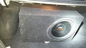 Subwoofers with amp in box for Sale in Kendallville, IN