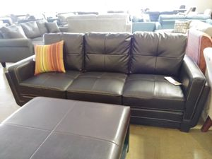Black Bonded Leather Sofa for Sale in Phoenix, AZ