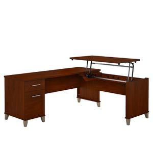 Bush Furniture Somerset 72W L Shaped Desk in Hansen Cherry for Sale in Springfield, VA