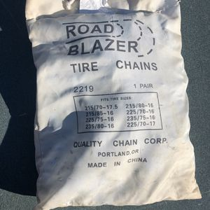 Road Blazer Tire Chains Snow Cables Truck SUV Mountain Road Hazard Safety Inspection for Sale in Covina, CA