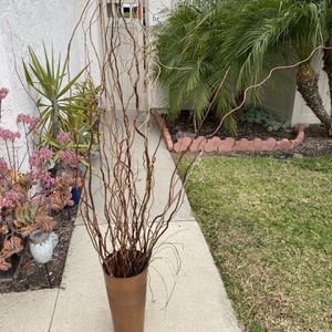 Metal Copper Color Vase / Plant Holder ( Twigs Sold Separately) for Sale in Encinitas, CA