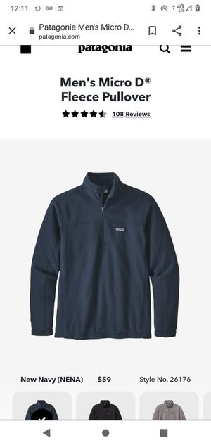 Patagonia Men's Micro D® Fleece Pullover M for Sale in Concord, NC