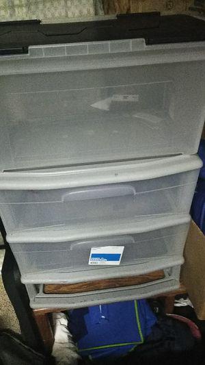 PLASTIC STORAGE SET OF DRAWERS for Sale in Spokane, WA
