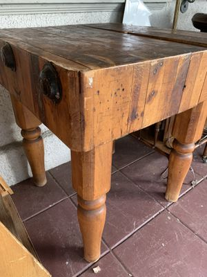 Antique Butcher Block Table for Sale in Portland, OR
