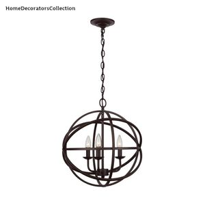 H.D.Coll. Sarolta Sands 3-Light Bronze Orb Chandelier for Sale in Dallas, TX