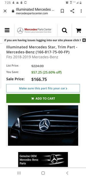 Mercedes Benz illuminated star for Sale in Gilbert, AZ