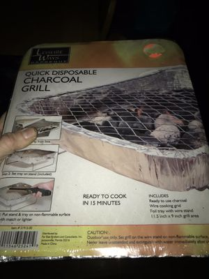 Disposable charcoal grill for Sale in Peru, MA