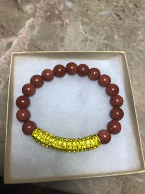 Brown sand stone stretch bracelet.8 inches for Sale in Stockton, CA