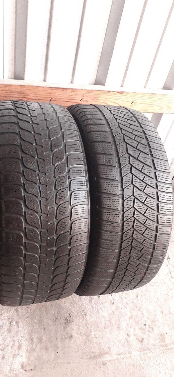 2 tires 245 45 18 Bridgestone & continental low pro run flat