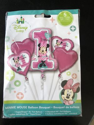 Minnie Mouse 1st birthday balloon for Sale in Bellflower, CA
