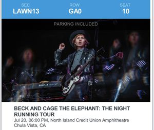 beck & cage the elephant for Sale in West Covina, CA