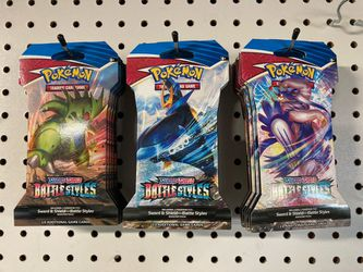Pokémon TCG: Sword & Shield-Battle Styles Sleeved Booster Pack (10 Cards)  for Sale in Madera, CA