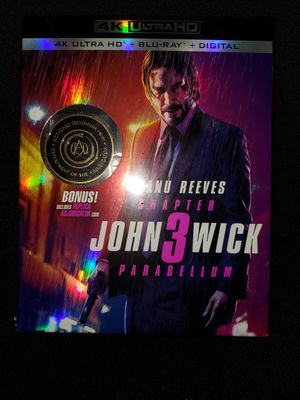 *NEW* John Wick 3 4K UHD/HDR BluRay for Sale in Spring, TX