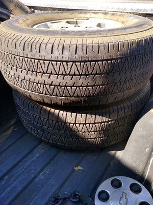 4 tires with rims..p265/70r 16 llls Firestone Wilderness ..Good conditions for Sale in Modesto, CA