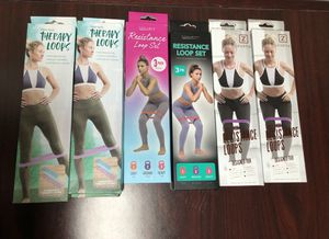Resistance bands 3 pack! For gym exercise yoga strength training exercise ejercicio for Sale in Miami, FL