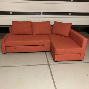 Ikea sofa with pullout bed and large storage for Sale in Ontario, CA