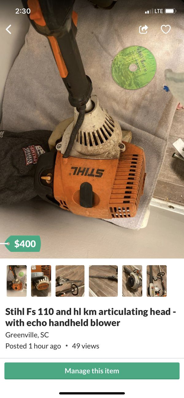 Stihl Fs 110 - $250 only- trimmer attachment $150
