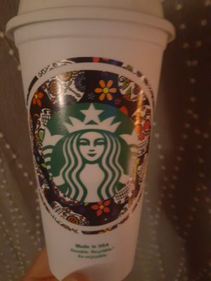 Sugar skull starbucks cup for Sale in Fresno, CA