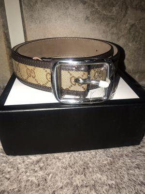 Gucci Monogram Beige Brown Belt Size 32 Brand New Never Worn Jordan for Sale in River Forest, IL