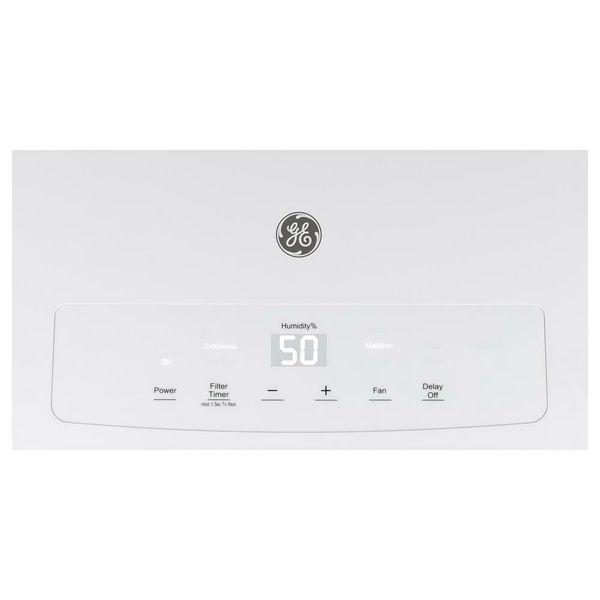 GE 50 pint Digital Control Dehumidifier, White (ADEL50LW)