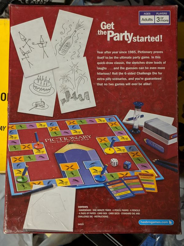 Pictionary 2007 Edition Board Game