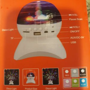 Crystal Ball LED Disco Light Bluetooth Speaker Rechargeable Brand New In The Box for Sale in Mableton, GA