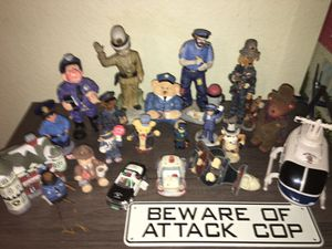 Huge Collection Of 1990's Ceramic Police Statues for Sale in Las Vegas, NV