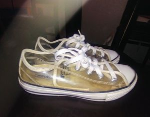 Clear Girls/Boys Converse Size 2 Youth for Sale in Modesto, CA