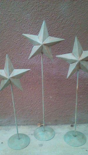 3 metal star decorations for Sale in Glendora, CA