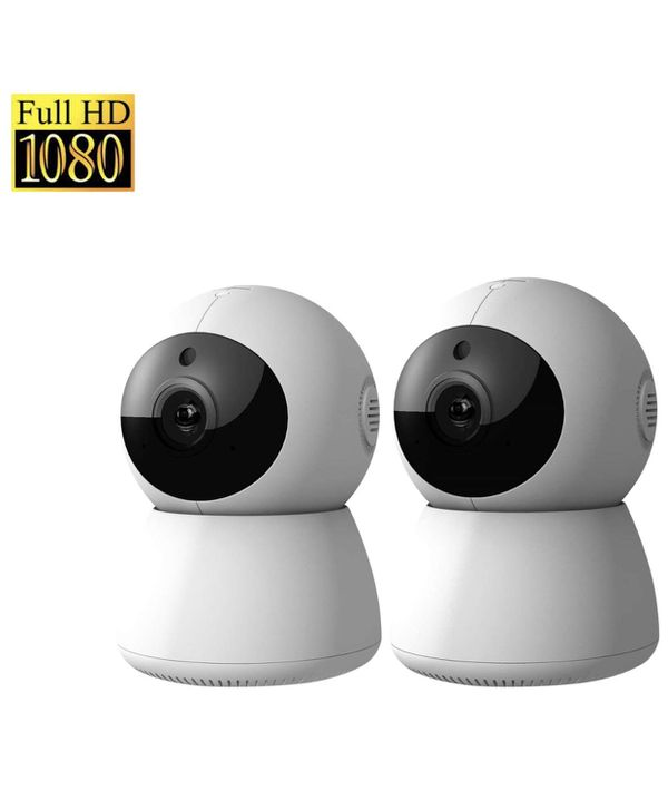 1080P HD Dome 360° Wireless WiFi Baby Monitor Safety Home Security Surveillance IP Cloud Cam Night Vision Camera for Baby Pet Android iOS apps