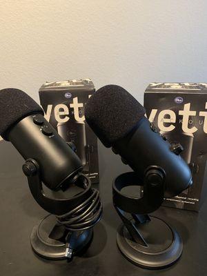 2 Yeti Blackout USB mic for Sale in Phoenix, AZ