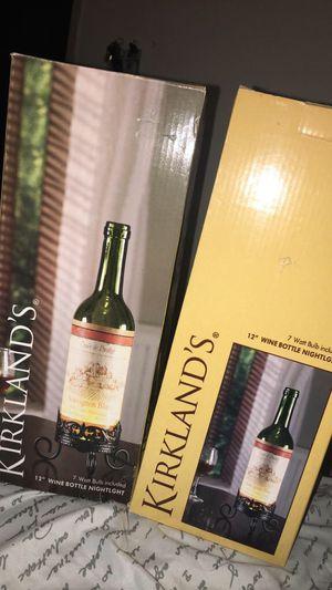 Kirkland Wine Bottle Nightlight for Sale in Wichita, KS