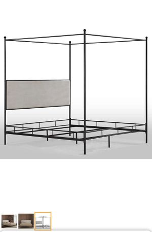 King size canopy bed frame for Sale in UPPR MARLBORO, MD