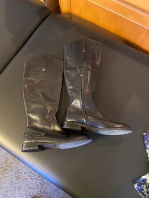 Nordstrom Halogen women's tall shaft leather boots size 6 for Sale in Lynnwood, WA