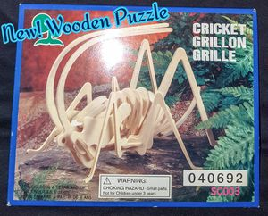 New! Cricket Wooden Puzzle for Sale in Romeoville, IL