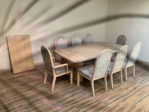 Solid wood and clean, table with 8 chairs 🪑 for Sale in Bellevue, WA