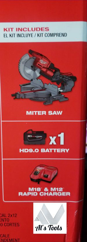 Milwaukee M18 10in double bevel sliding miter saw with 9.0 battery and charger for Sale in Paramount, CA