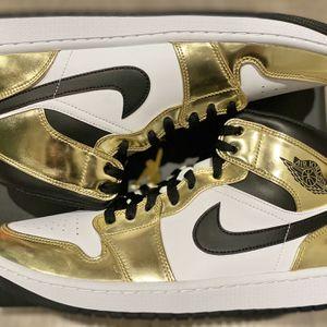 Jordan 1 Mid Metallic Gold 10 & 10.5 , 11.5 & 12 Men for Sale in Orange, CA