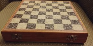 Marble and Wood Chess Set Handmade Pieces for Sale in Tacoma, WA
