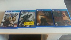 Ps4 Games for Sale in Dallas, TX