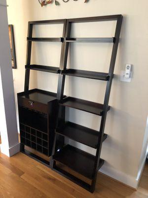 Ladder bookshelves and matching wine bar for Sale in Midlothian, VA