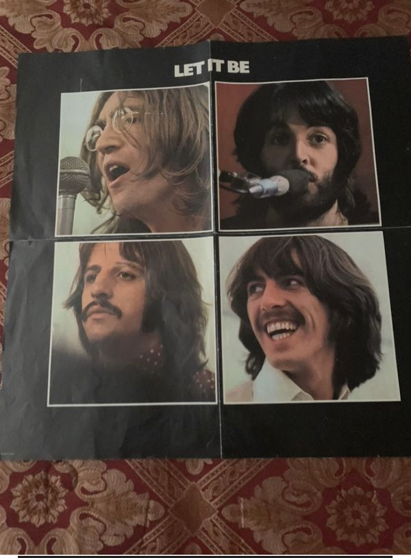 BEATLES LET IT BE 1970 POSTER