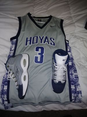 Allen Iverson college jersey with shoes for Sale in Olympia, WA